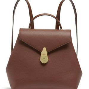 Calvin Klein Lock Leather Backpack Walnut Brown